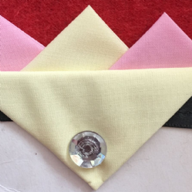 Pale Pink and Cream Hankie With Cream Flap and Pin